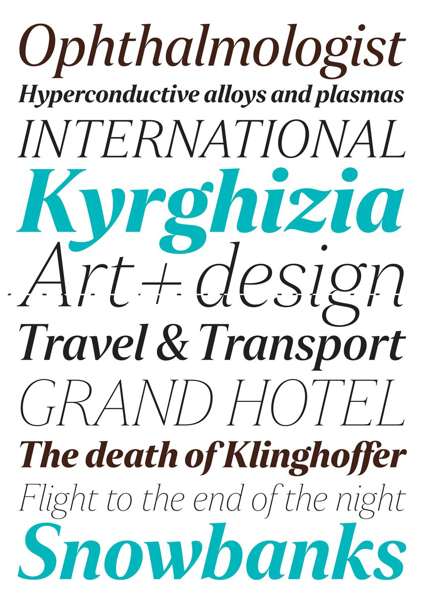 Newspaper Typeface Family