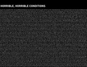Survival Billboard – Terms & Horrible, Horrible Conditions