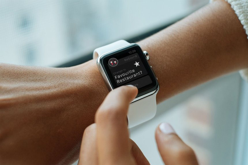 First Hearing Aid Interface for the Apple Watch