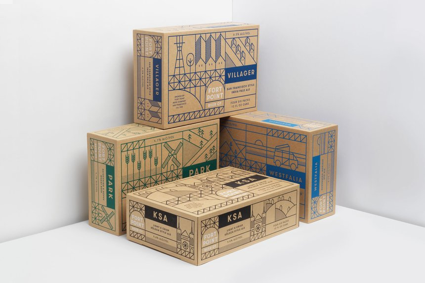 Fort Point Beer Company Packaging