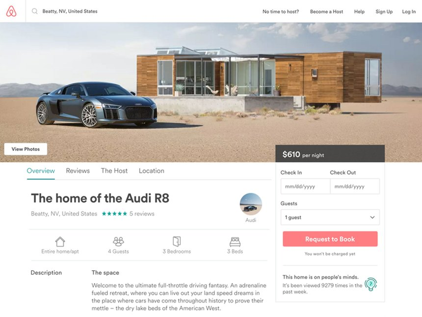 Audi and Airbnb Live to Drive