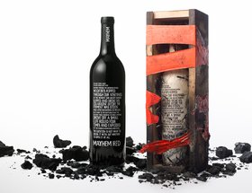 Mayhem Wine Bottle