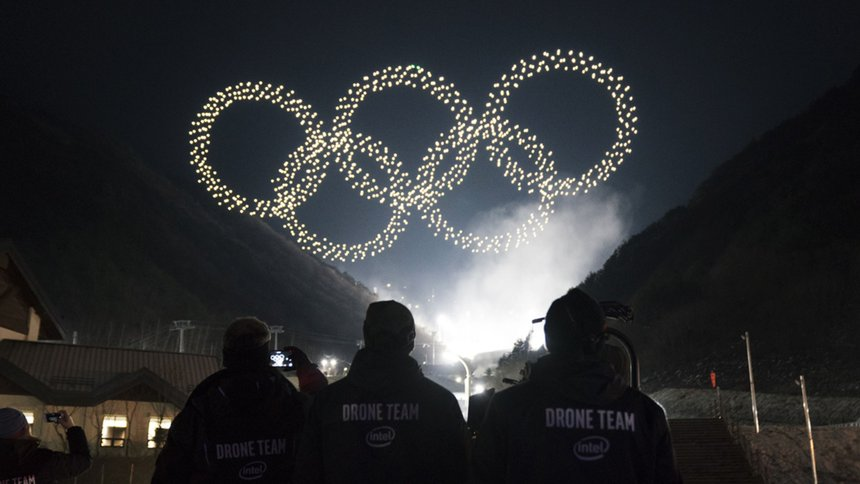 "Intel Drone Light Show at The Olympics: ""Team in Flight"""