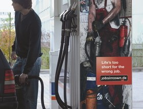 The wrong working environment campaign - petrol pump