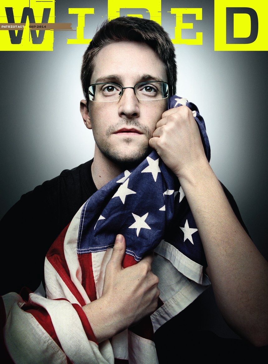 WIRED Edward Snowden Seven Simple and Powerful Magazine Covers | D&AD