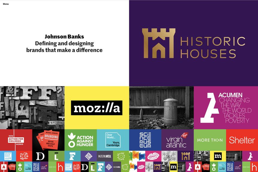 Johnson Banks website