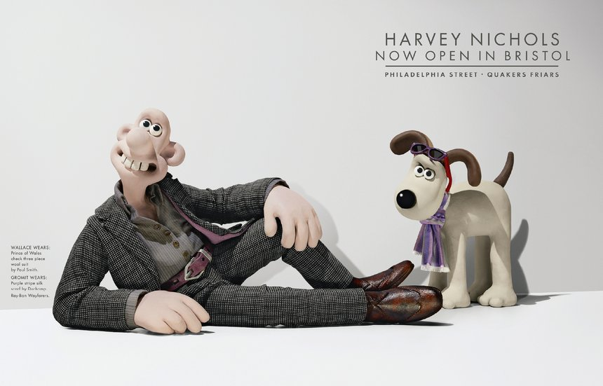 Wallace in Paul Smith & Gromit in Duchamp