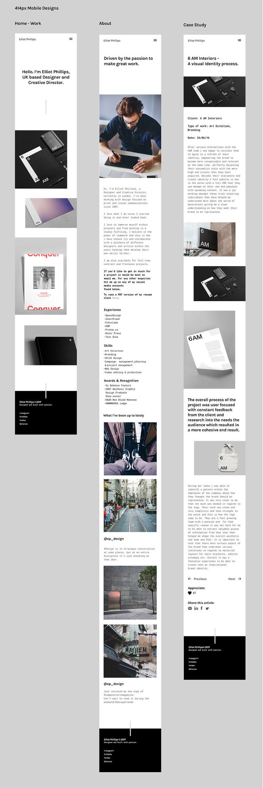 Apto - A Creative Portfolio Template | 2017 D&AD New Blood Winner ...