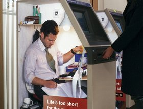 The Wrong Working Environment Campaign  - Cash Machine / Coffee Dispenser / Photo Booth
