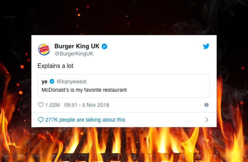 How Burger King flame grilled Kanye West and created the most-liked tweet by a brand of all time.a brand of all time.