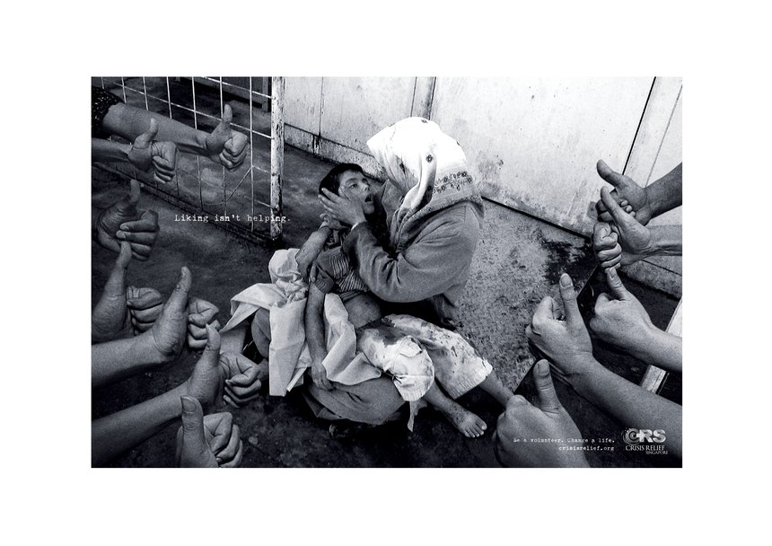 Liking Isn't Helping: War