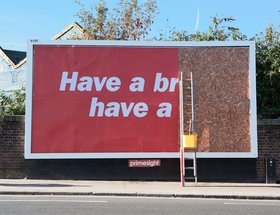 Outdoor Advertising that messes with the system