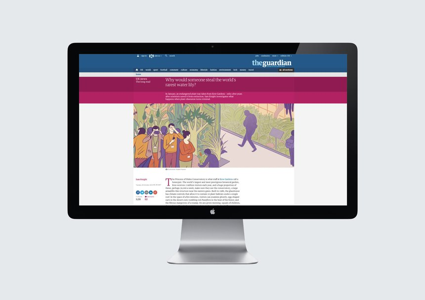 The Guardian Responsive Website