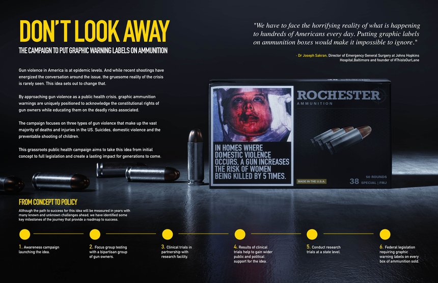 Don't Look Away - The Campaign to Put Graphic Warning Labels on Ammunition