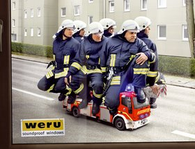 Noise Protection Windows - Fire Brigade / Jet