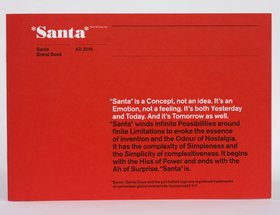 Santa Brand Book Christmas Card