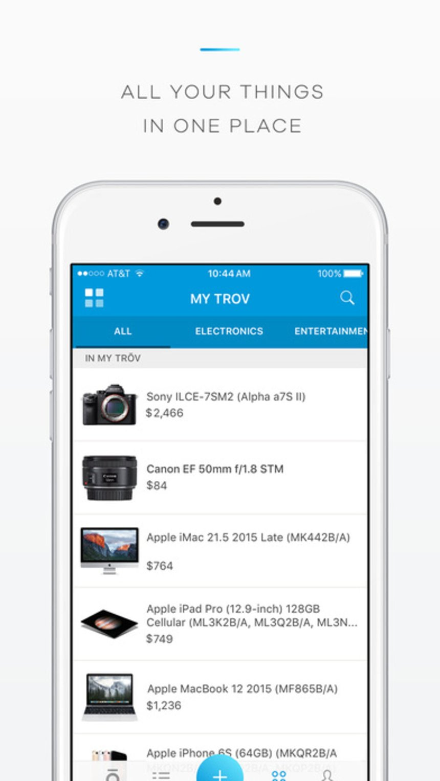 Trōv Mobile Application