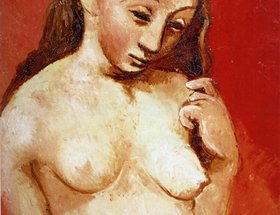 Page 3 Nude against a red background, 1906 Picasso