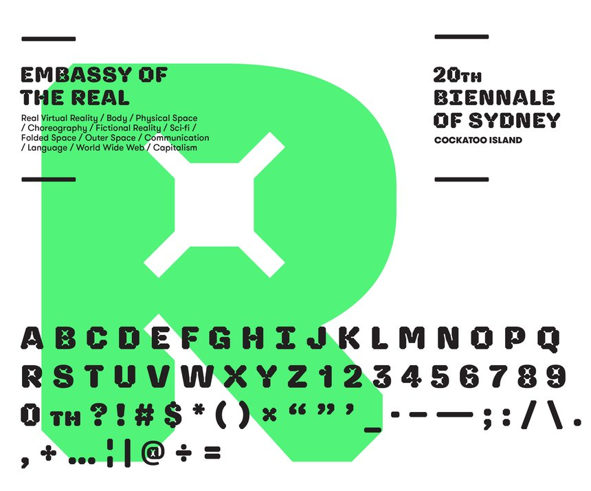 20th Biennale of Sydney Display Typeface
