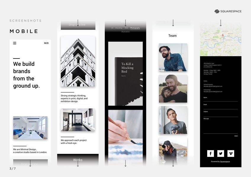 Maxima squarespace portfolio template 2017 dad new blood winner the aim of this design is to put showcasing content at the heart of the template improving user experience through engaging ui design and clever web maxwellsz