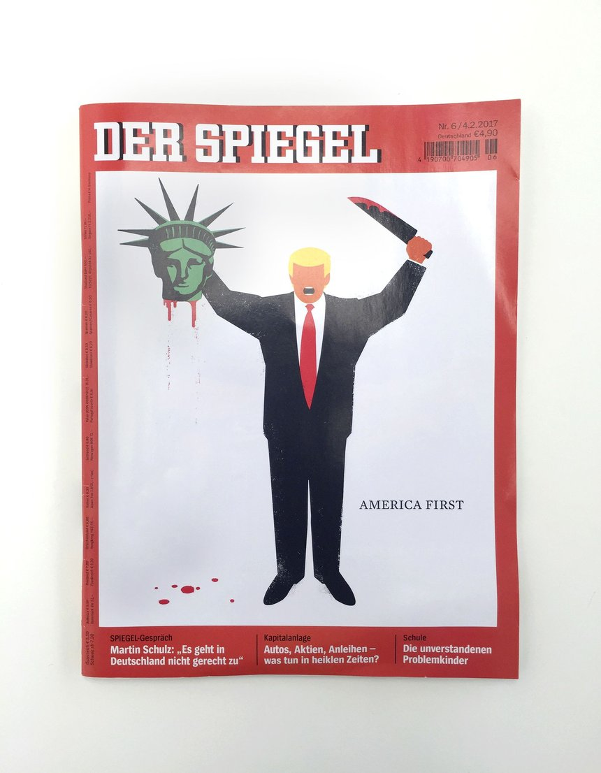 Donald Trump Cover Series DER SPIEGEL magazine