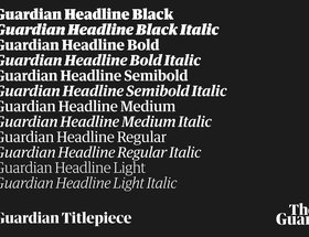 The Guardian Headline and Titlepiece fonts
