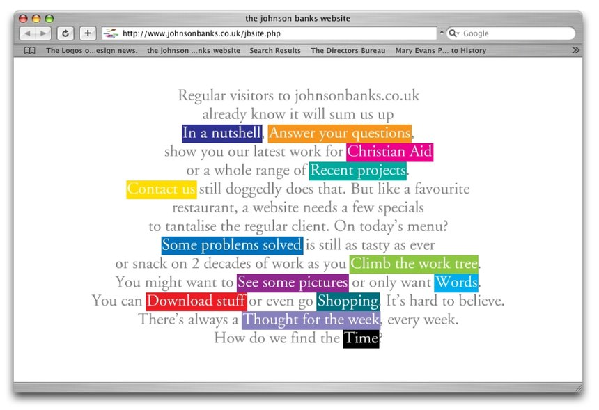 The johnson banks website