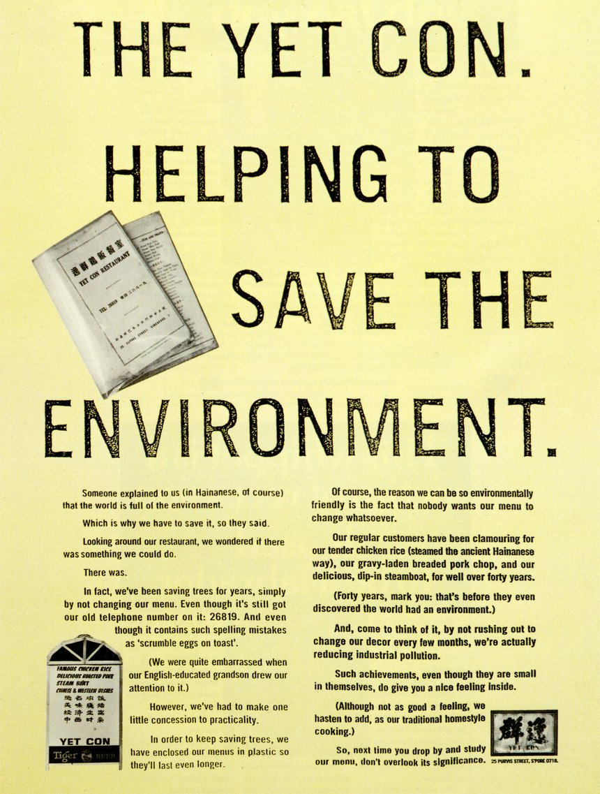 The Yet Con - Helping To Save The Environment.