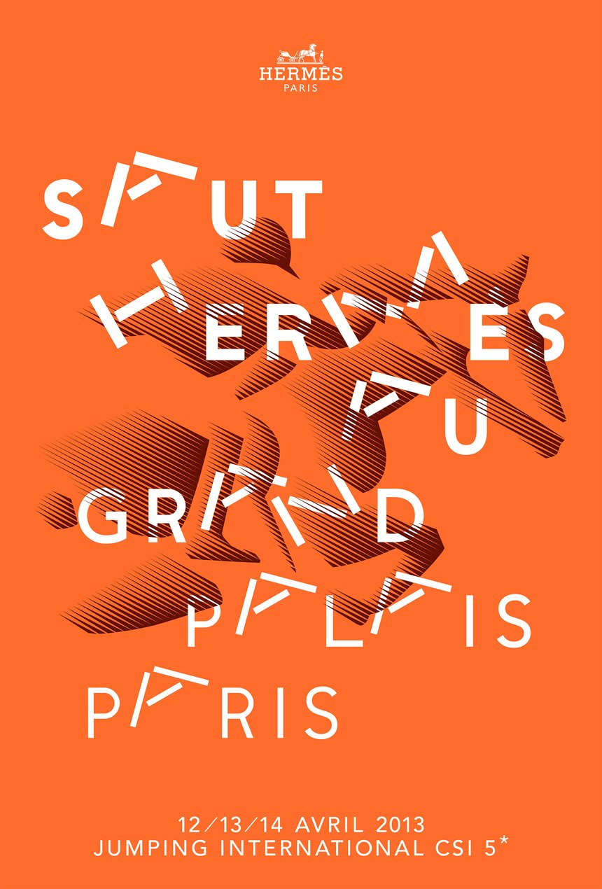 Stunning Posters with a Typographic Twists D&AD  Saut Hermès au Grand Palais