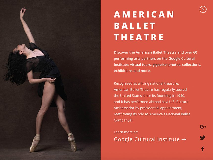Google Cultural Institute - Performing Arts