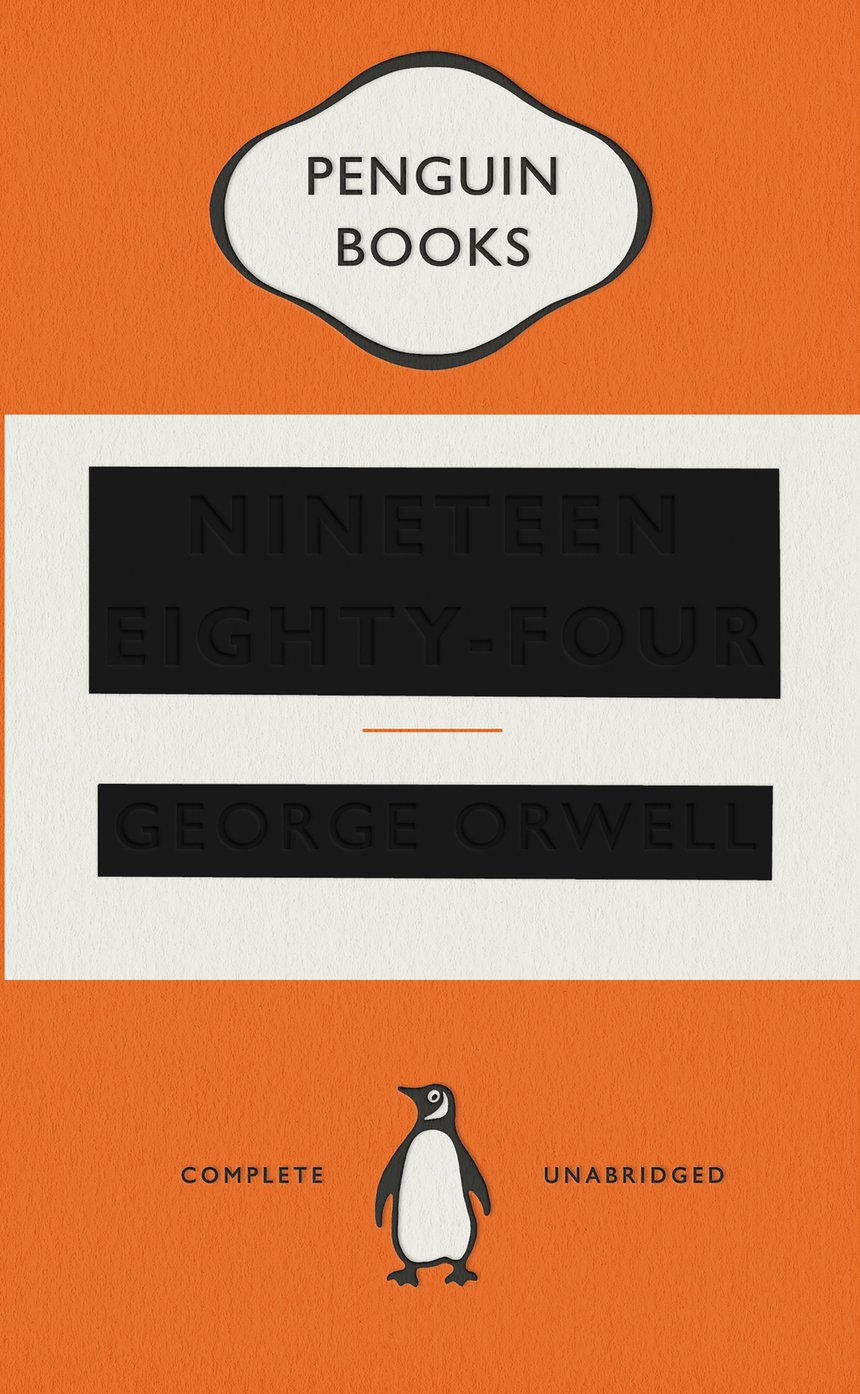 Penguin Book Cover Competition Winners : Nineteen eighty four type as image penguin books d